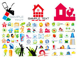 House-theme-logo-vector-graphic