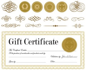 Gift card template photoshop 6 vector blue ribbon holiday gift gift certificate template for photoshop free voucher yadclub Images