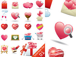 Romantic heart, shaped icon Vector-thumb