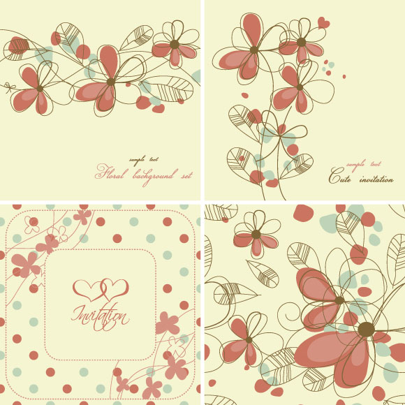elegant floral background pattern vector download free vectors