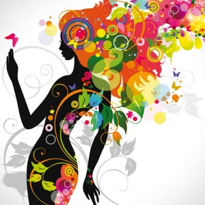 Download royalty free beauty fashion silhouette – vector stock
