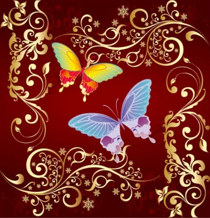 Photoshop brushes butterfly Flowers vector