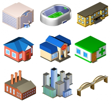 Free Standard City Icons pack