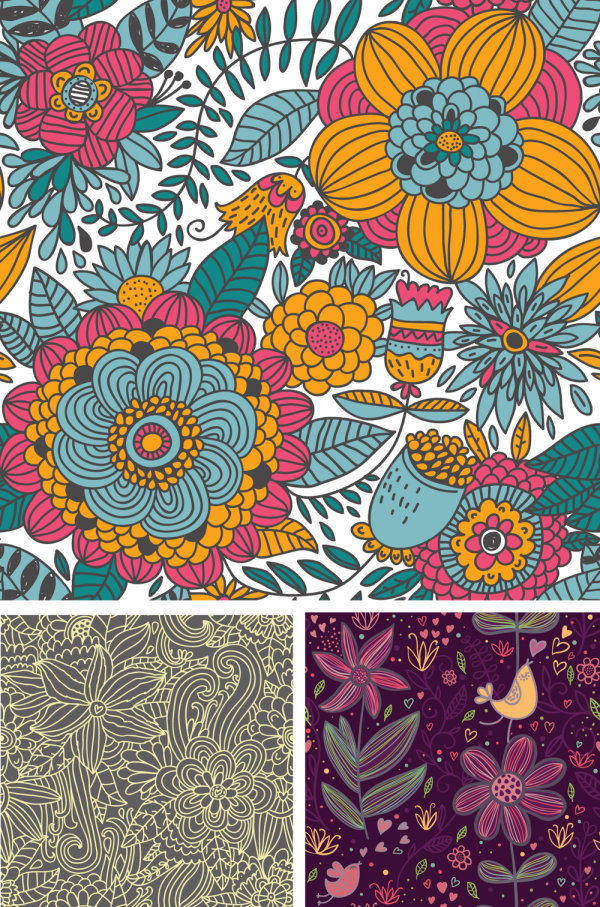 Pattern background vector -02