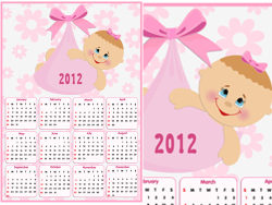 Beautiful 2012 calendar vector design-thumb