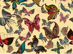Butterfly pattern background vector-thumb