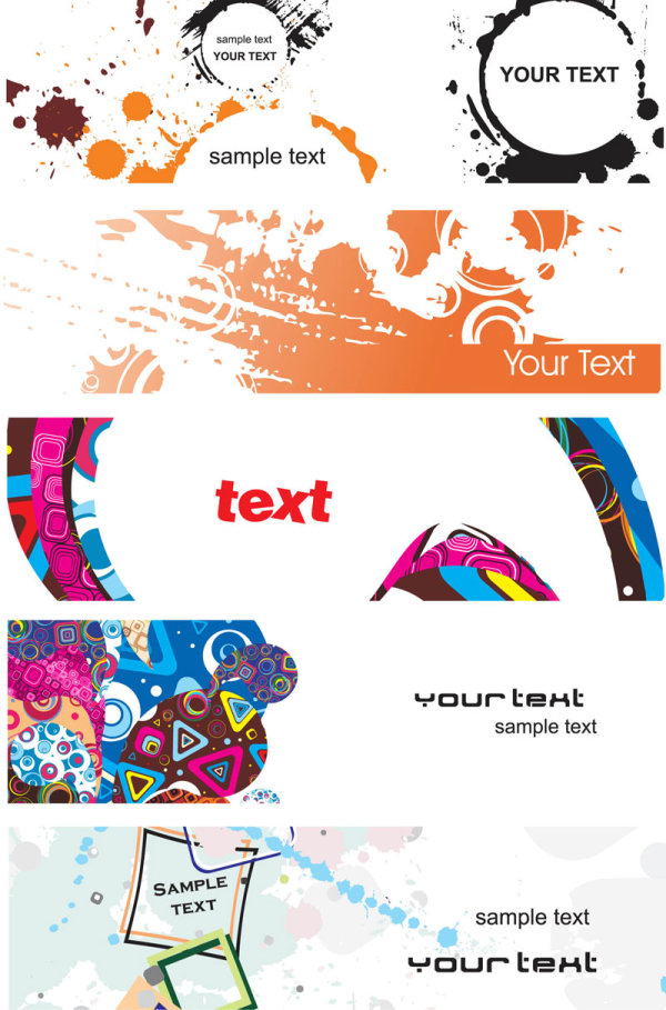 Elements of the trend banner vector