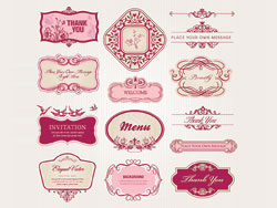 Exquisite-European-style-pattern-label-vector