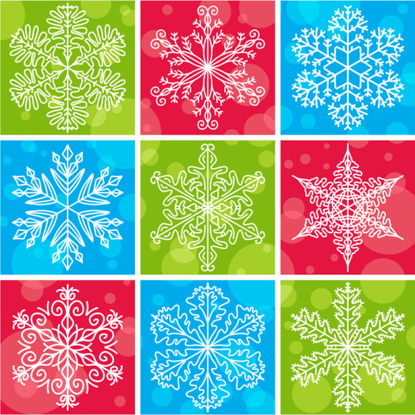 Snowflake pattern vector design-1