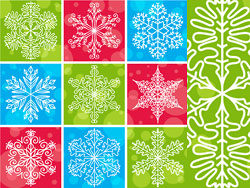 Snowflake pattern vector design