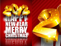 Brilliant Happy New Year 2012 background vector-2