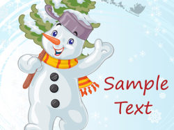 Cartoon Christmas Snowman vector-2