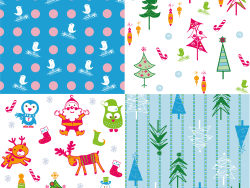 Cartoon Christmas background vector design-2