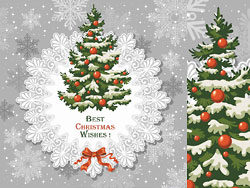 Christmas background template vector-2