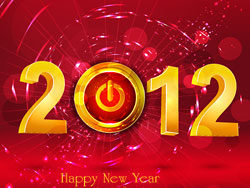 Happy New Year 2012 vector design-th