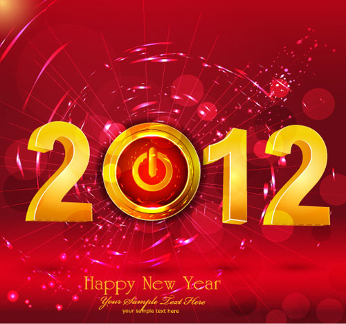 happy new year 2012 vector design