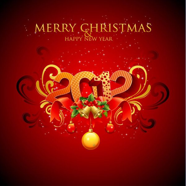 Mery Christmas 2012 background vector design