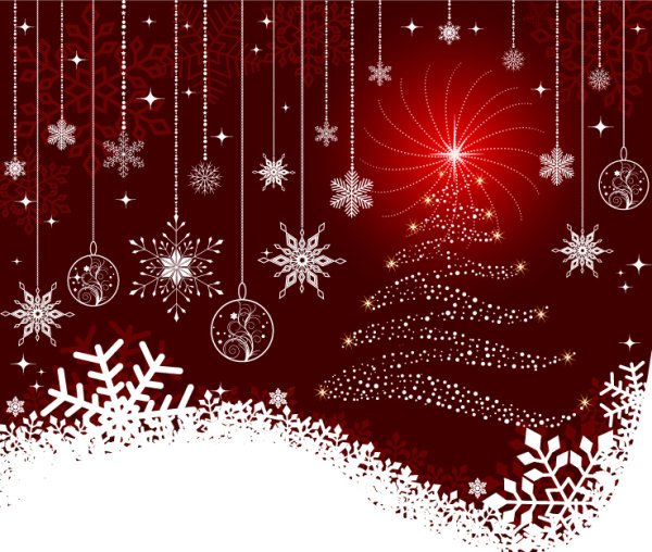 Beautiful Christmas ball background vector | Download Free Vectors ...