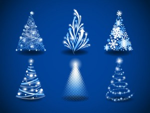 Beautiful Christmas tree vector - 1