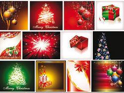 Star-studded Christmas background vector-1