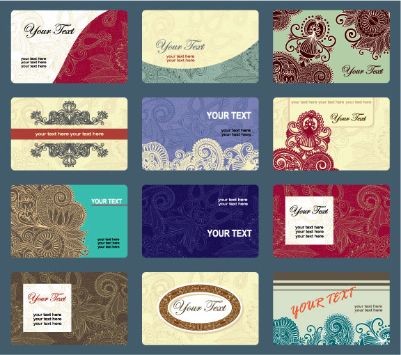 Vintage business cards template vector design download free posted in business cards design templates wajeb Images
