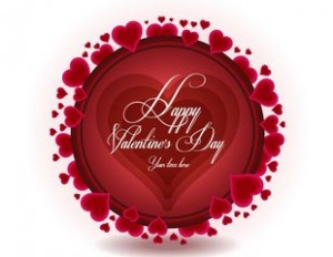 Beautiful Valentine's Day background vector-2
