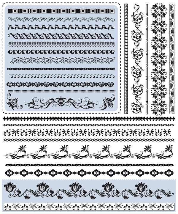 Beautiful lace pattern vector 02