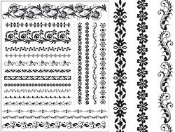 Beautiful lace pattern vector 04-thumb