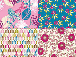 Cartoon patterns flower vector design-thu