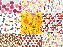 Cartoon patterns vector design-1-thub