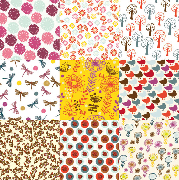 Cartoon patterns vector design-1