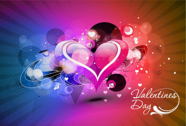 Fashion background Valentine Day Vector