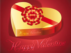 Happy Valentines day greeting card design-th