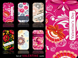 Valentine's Day Card template vector - pack 2