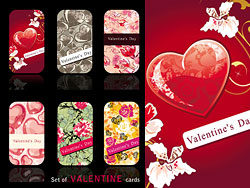 Valentine's Day Card template vector-th
