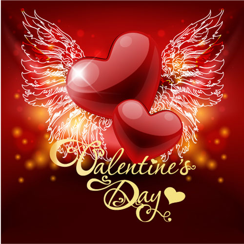 Valentine's Day Greeting Cards Vector design