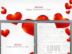 Valentine's paper background vector-th
