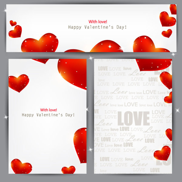Valentine's paper background vector