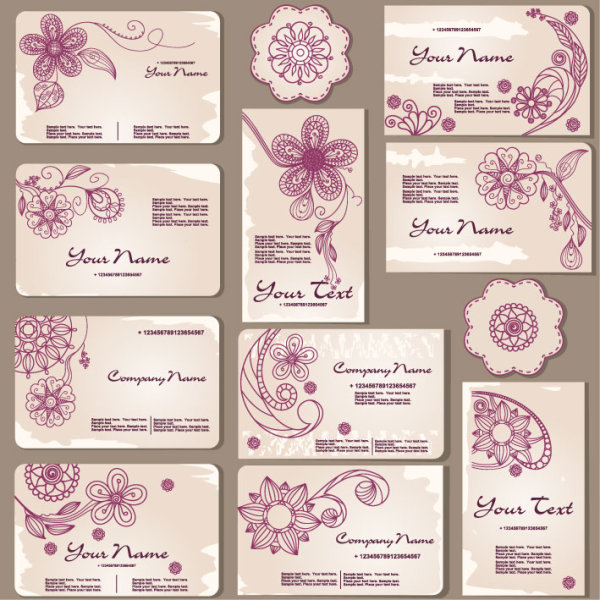 Exquisite patterns card template vector