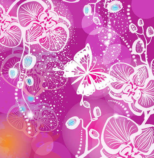 The colorful pattern background vector 01