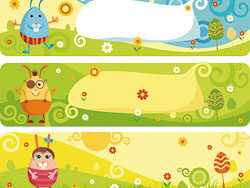 Cartoon banner vector design-thumb