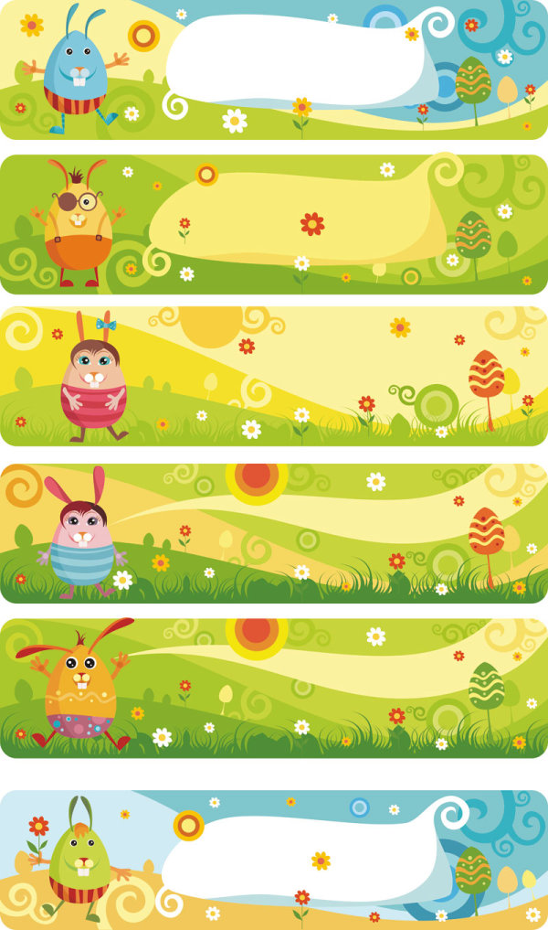 Cartoon banner vector design