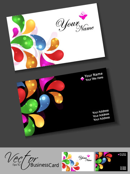 Free vector colorful business card vector design download free posted in business cards reheart Images