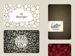 Pigment pattern menu cover vector-thumb