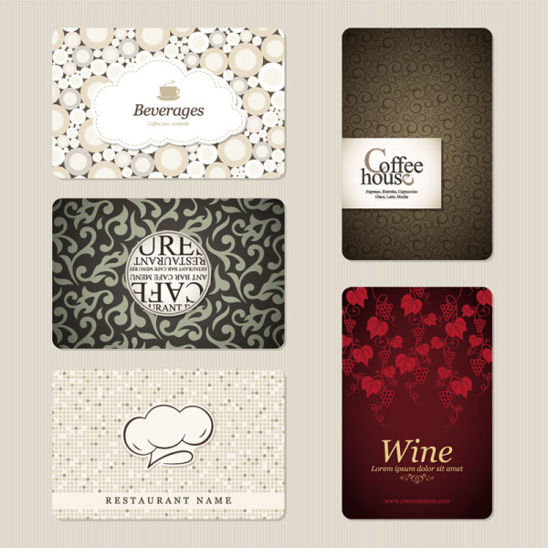 Business card restaurant vector template download free vectors posted in business cards reheart Gallery