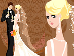 Wedding card background vector-thumb