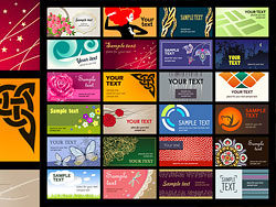 A wide range of card template vector material -1-thu