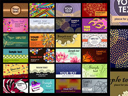 A wide range of card template vector material -2-thu