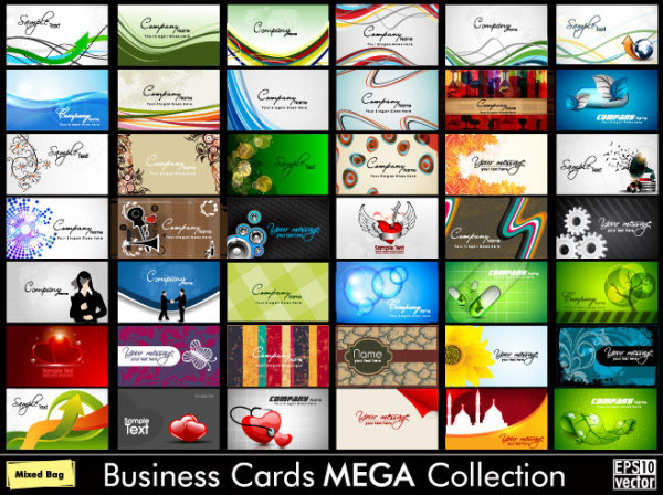 Business Cards mega collection vector