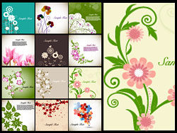 Classic flowers illustrator vector-thu
